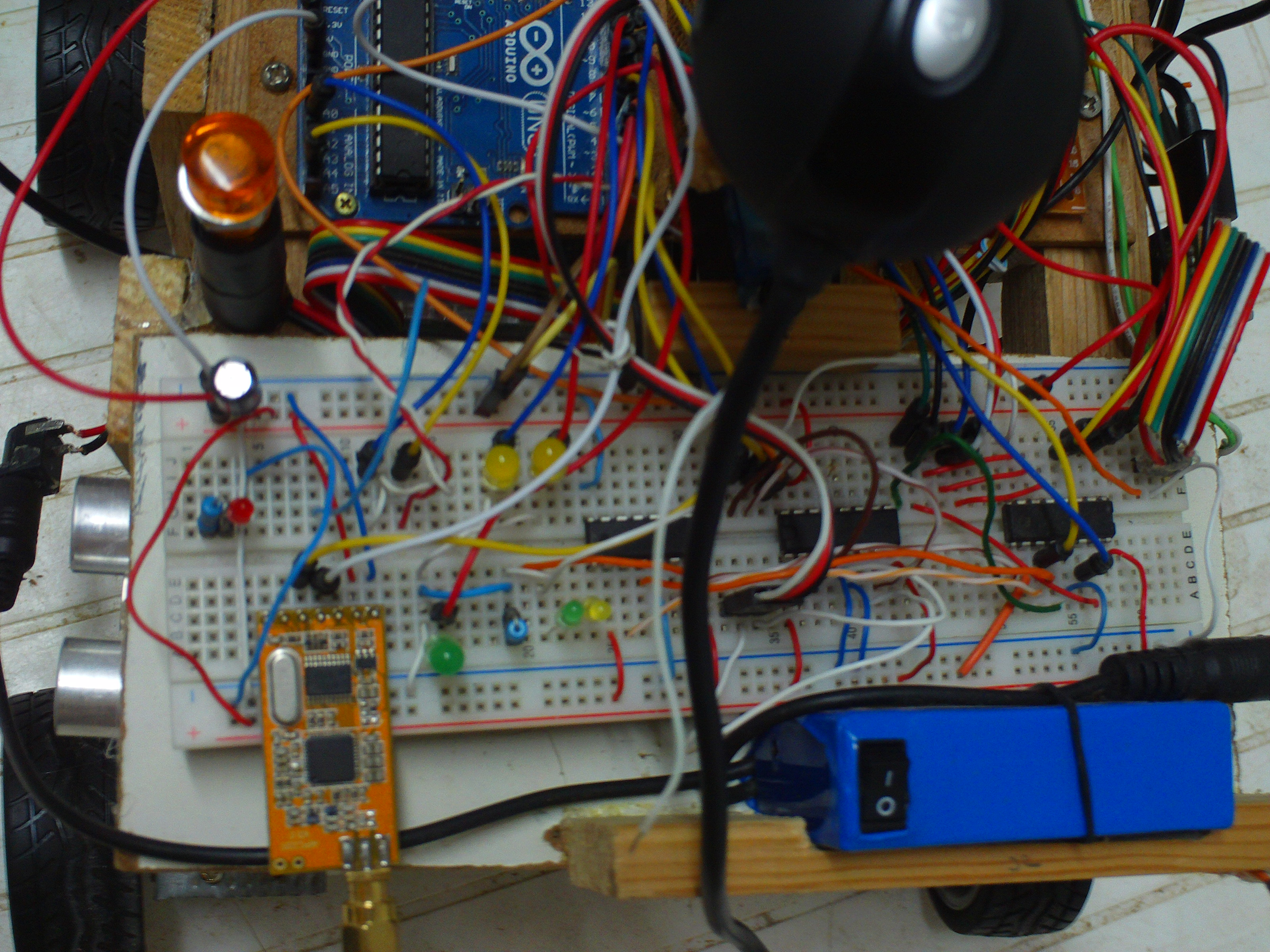 Raspberry Pi Arduino And Apc220 Robot Thunder Wiring Messy Pictures This Is Not Some Wirings Thunderwiring The Blue